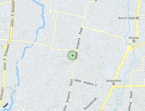 Peta lokasi Synthesis Residence Kemang