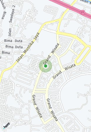 Peta lokasi Grand Wisata Cluster Garden Hous