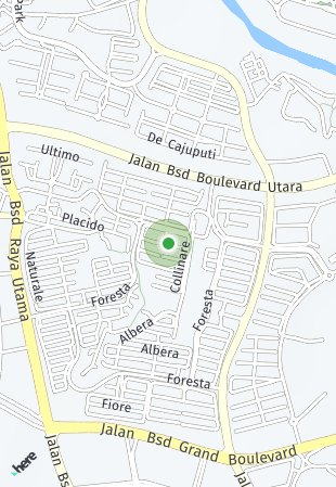 Peta lokasi BSD Nava Park - Lyndon