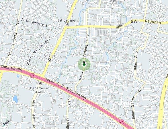 Peta lokasi Apple Residence