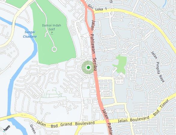 Peta lokasi BSD City – Ruko Virginia Arcade