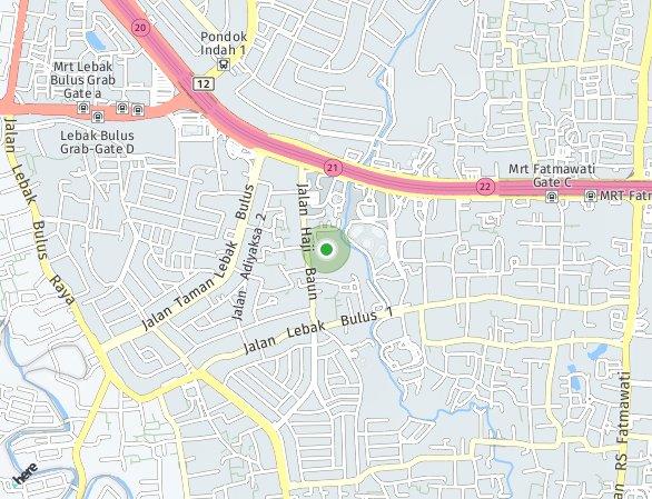 Peta lokasi South Quarter Residence