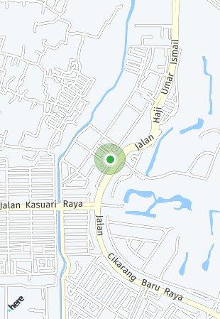 Peta lokasi Jababeka Industri