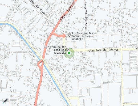 Peta lokasi Metropark Condominium
