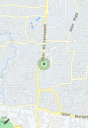 Peta lokasi Megatown Fatmawati