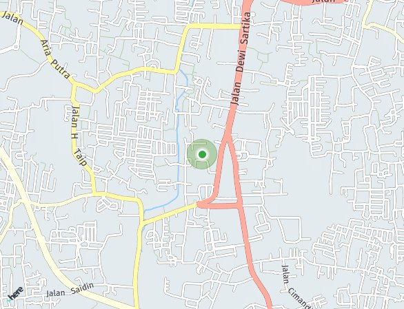 Peta lokasi The Spring Residence Ciputat
