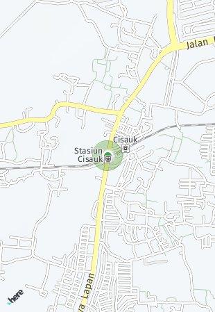 Peta lokasi Cisauk Point