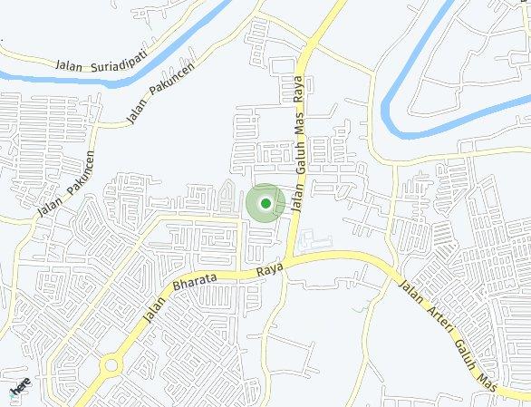 Peta lokasi Rukost dan Ruko Galuh Mas Karawang