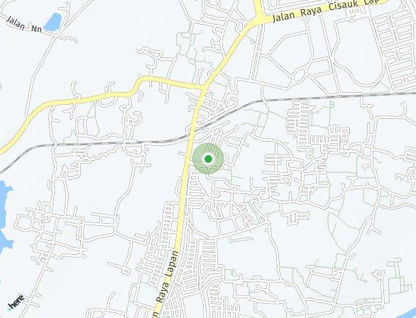 Peta lokasi Serpong Garden Apartment