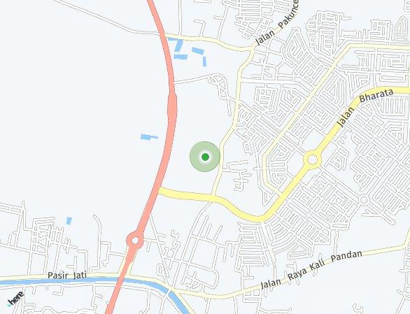 Peta lokasi Sentraland Karawang