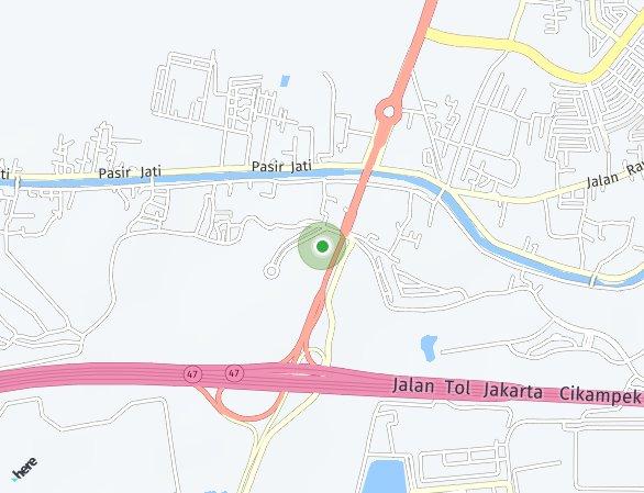 Peta lokasi Technopolis Apartemen
