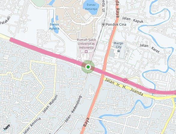 Peta lokasi Mazhoji Apartment