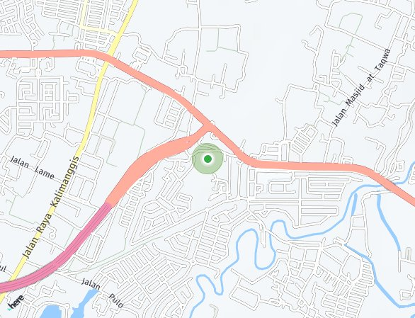 Peta lokasi Cluster Clover Garden at Citra Gran Cibubur