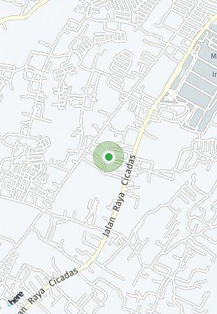 Peta lokasi Gunung Putri Apartment
