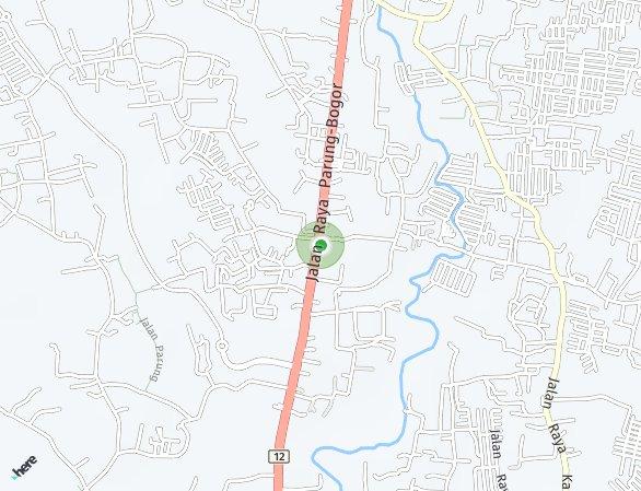 Peta lokasi The Boulevard Bogor