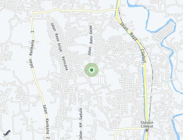 Peta lokasi Mutiara Cilebut