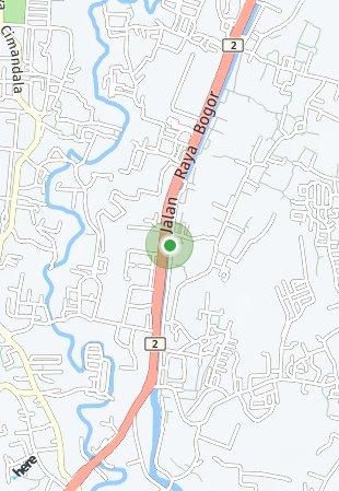 Peta lokasi Graha Laras Sentul