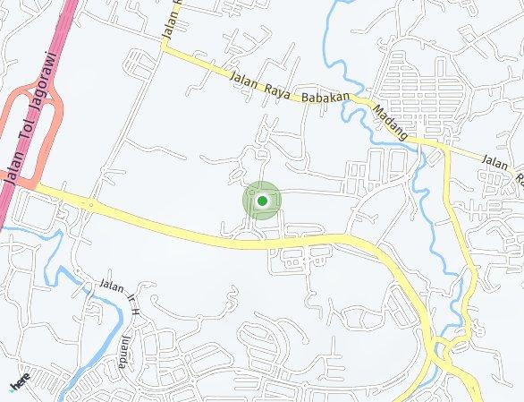 Peta lokasi Verdura Apartment