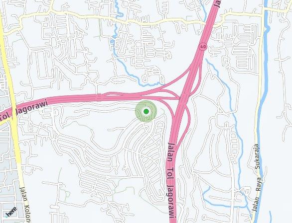 Peta lokasi Bogor Heritage Ecopark