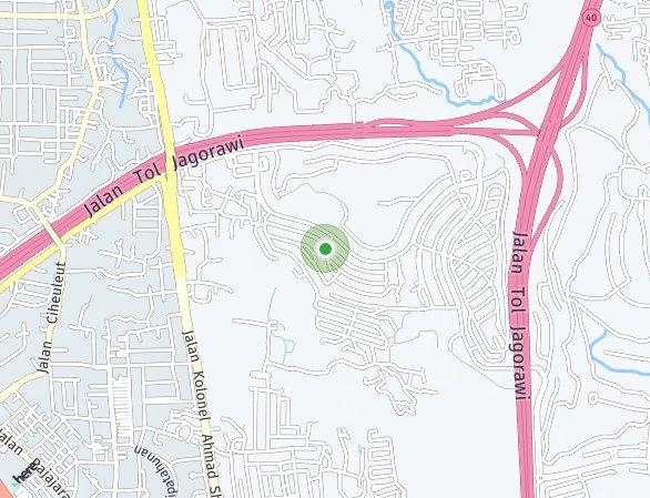 Peta lokasi Danau Bogor Raya