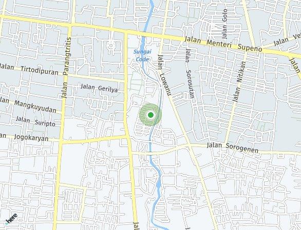 Peta lokasi Jogja Apartel
