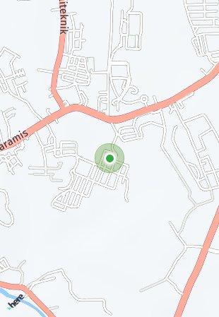 Peta lokasi Lembah Nyiur Kairagi Mas