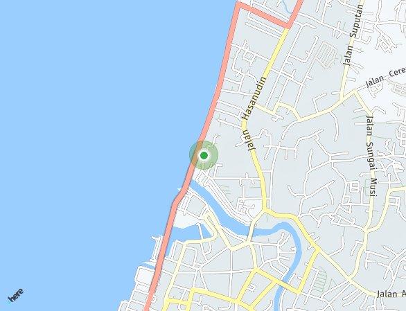 Peta lokasi Tamansari Metropolitan Residence