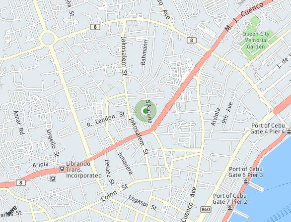 Peta lokasi Horizon 101