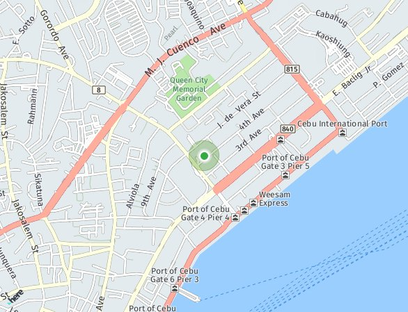 Peta lokasi Galleria Residences