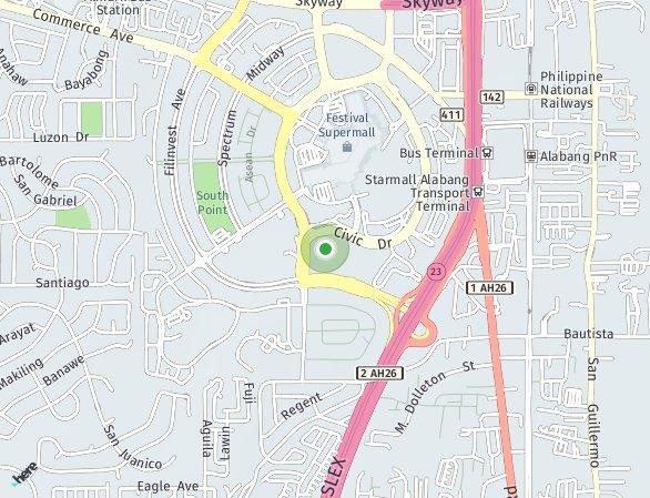 Peta lokasi East Bay Residences