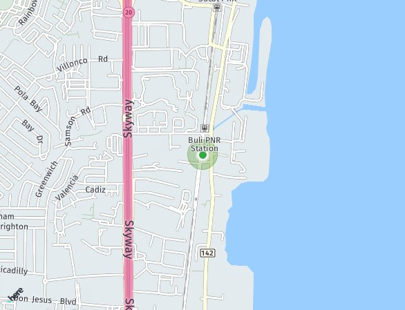 Peta lokasi Rhapsody Residences