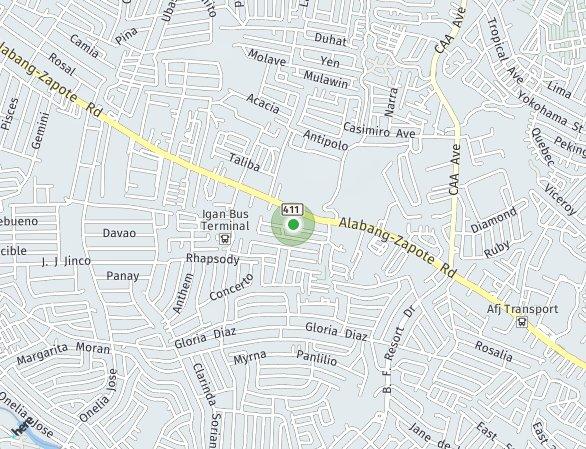 Peta lokasi Ananda Square