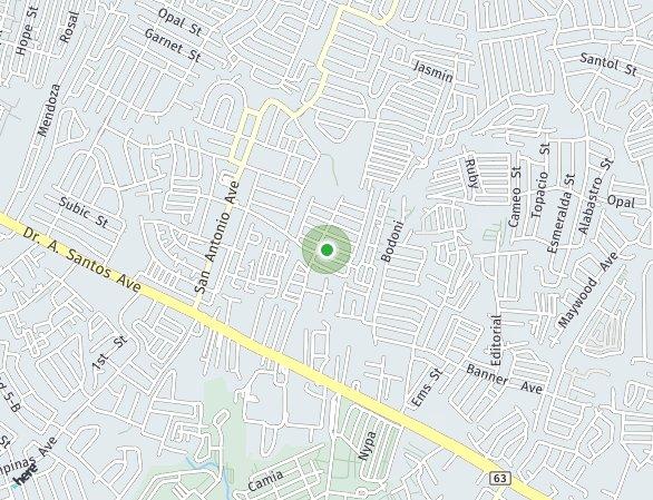 Peta lokasi Bloom Residences