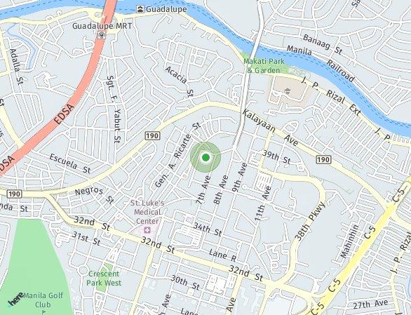 Peta lokasi Time Square West