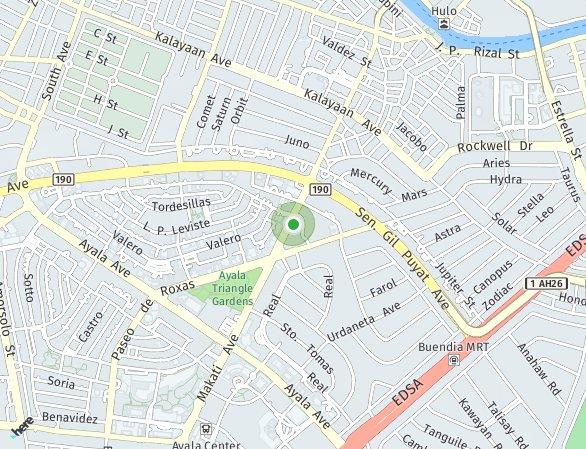 Peta lokasi Zuellig Building