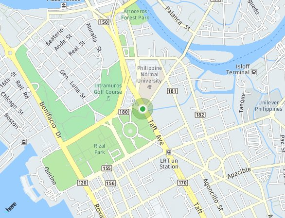 Peta lokasi Suntrust Solana