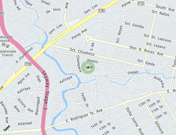Peta lokasi Scout Rallos