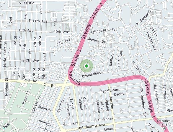 Peta lokasi Amadea