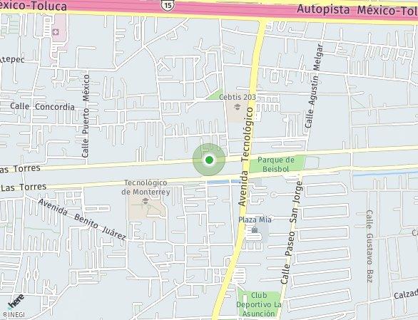 Peta lokasi Metepec