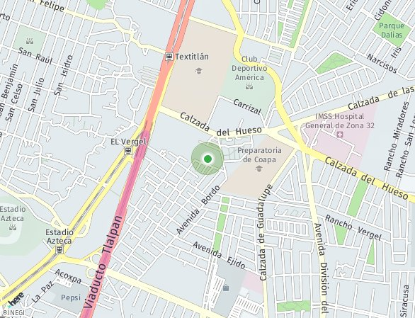 Peta lokasi Ventanas Coyoacán