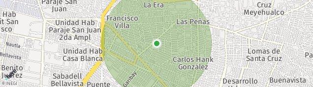 Map of Francisco Villa