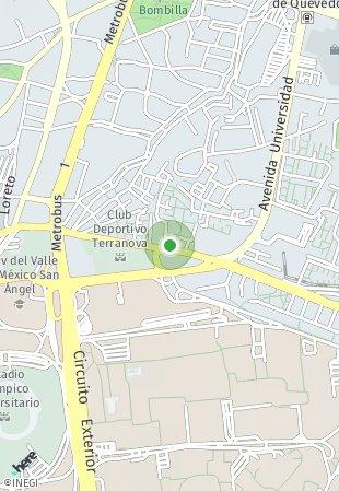 Peta lokasi Copilco 2