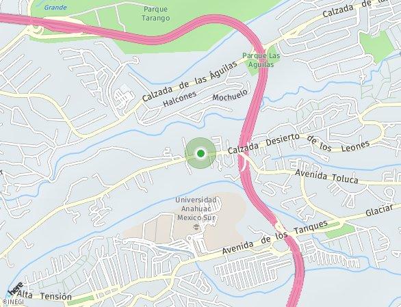 Peta lokasi Desierto de los Leones 5547