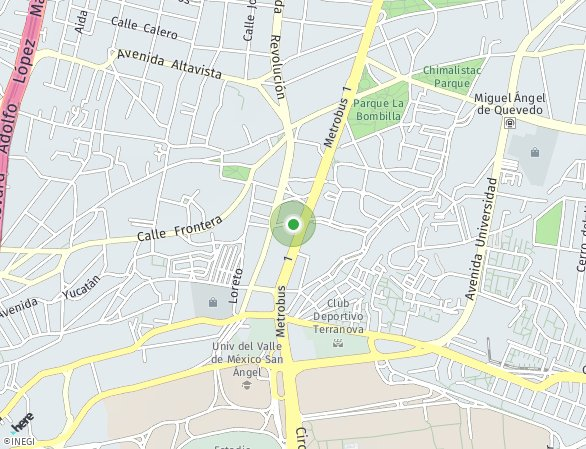 Peta lokasi San Angel