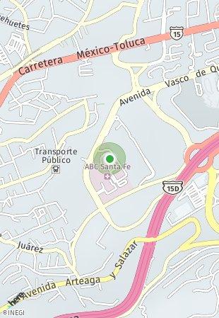 Peta lokasi Downtown Santa Fe