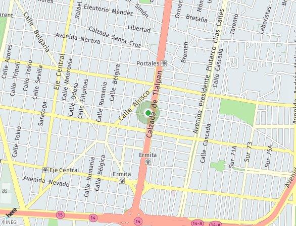 Peta lokasi Tlalpan 1447