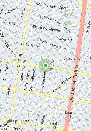 Peta lokasi Municipio Libre 105