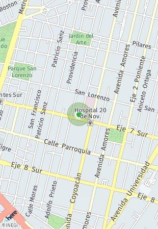 Peta lokasi Félix Cuevas 514