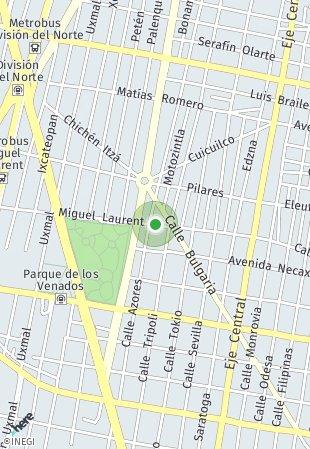 Peta lokasi Miguel Laurent