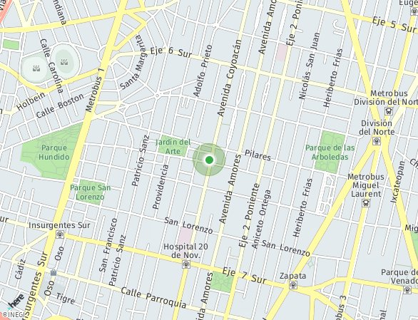 Peta lokasi Coyoacán 1525